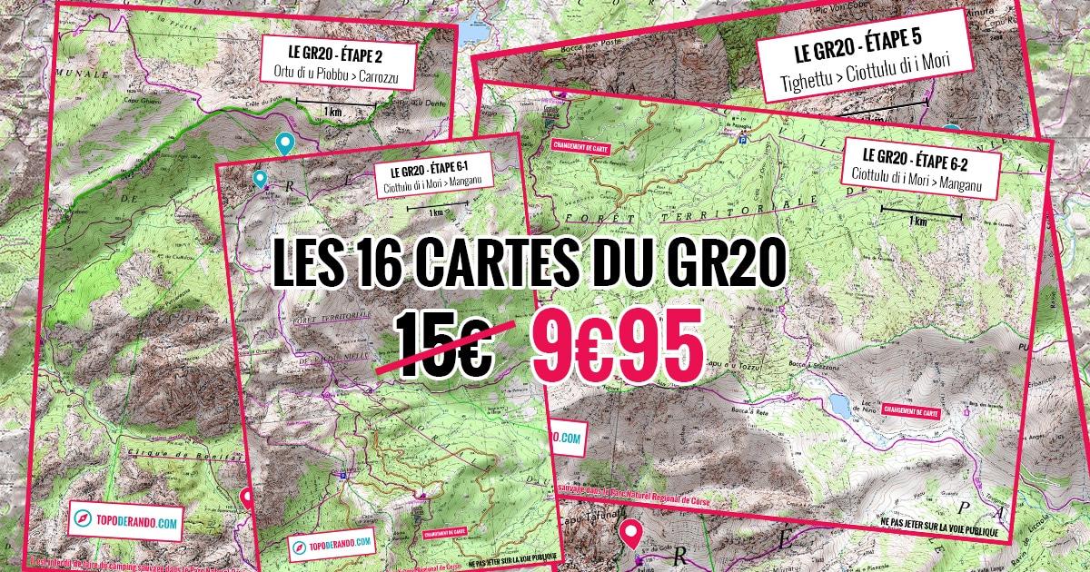 les cartes IGN du GR20