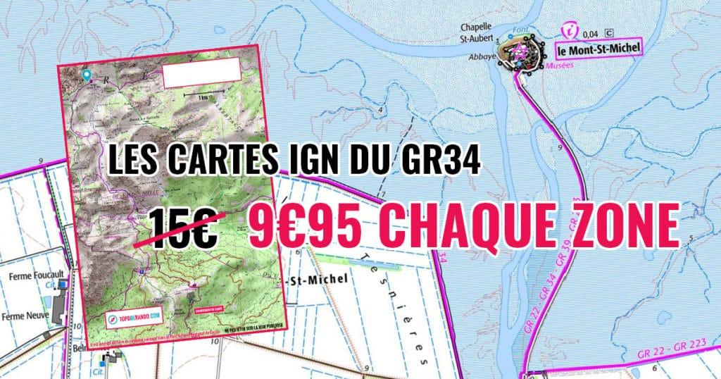 Le Gr34 Chemin Des Douaniers Topo Et Ign Cartes Ign Et