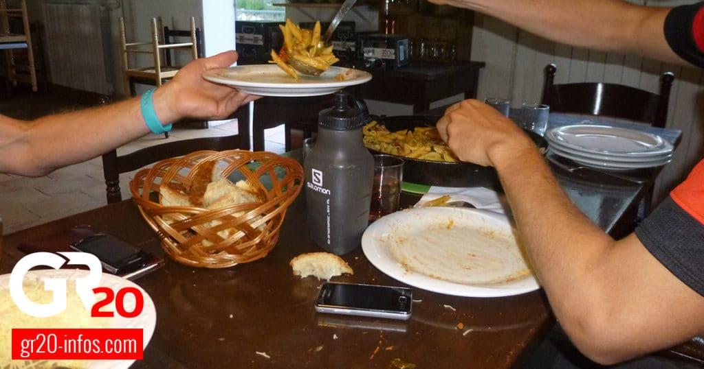 repas sur le GR20