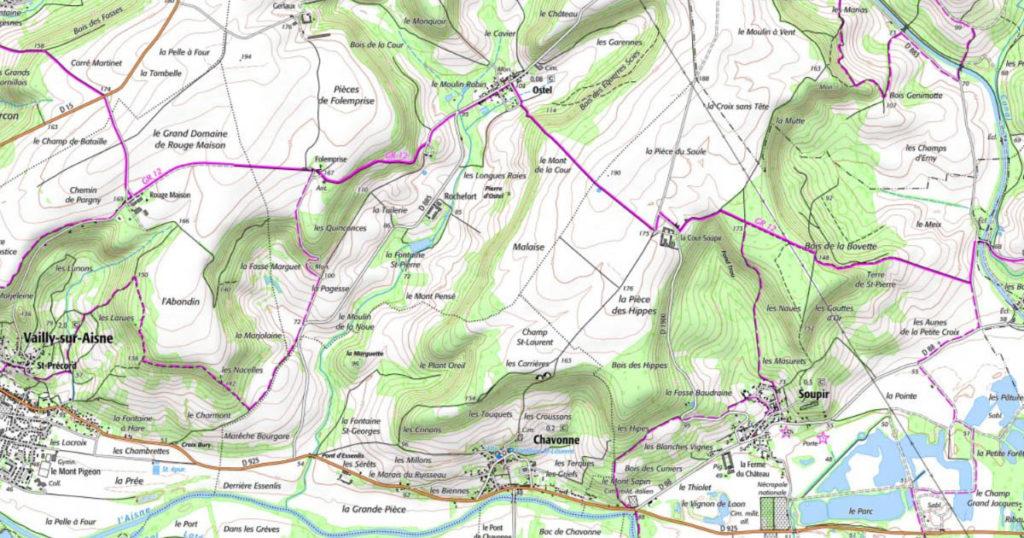 GR12 dans l'Aisne