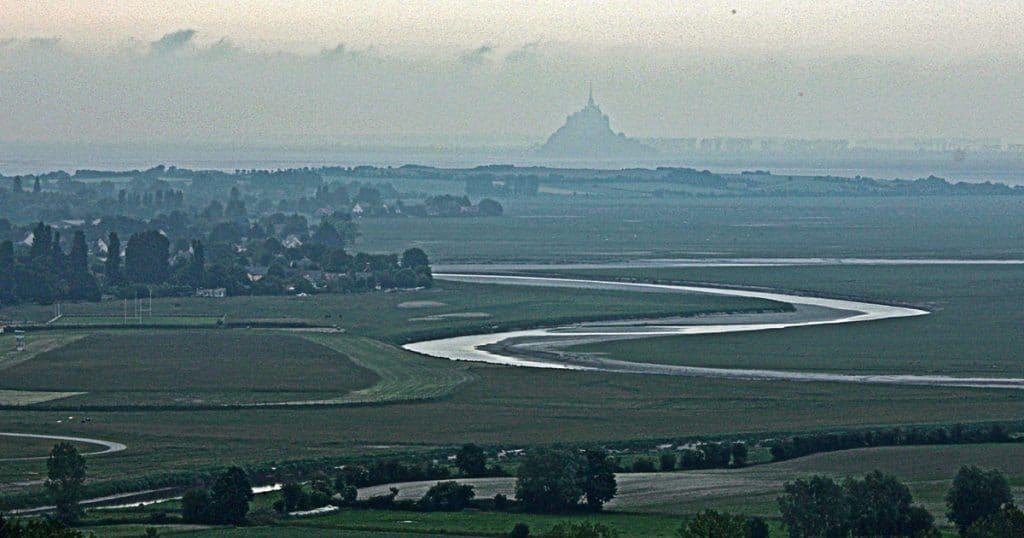 Vu sur le Mont Saint Michel depuis le GR 223 à Avranches